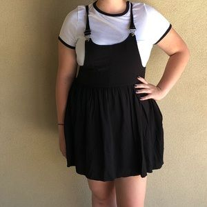 Xhilaration Black Pinafore Dress